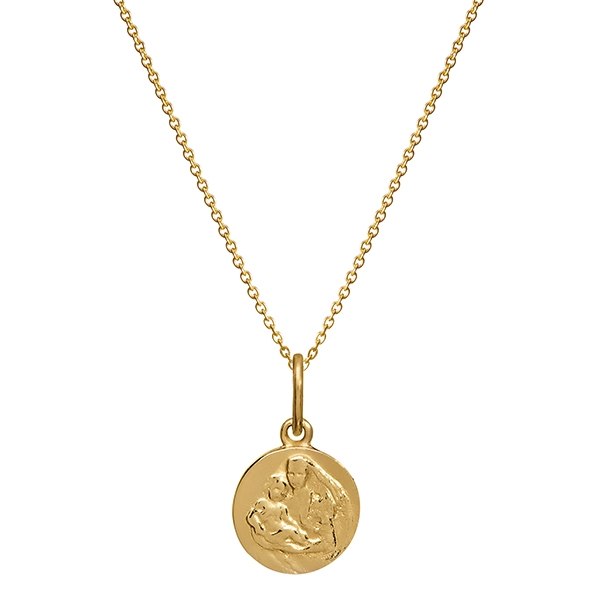 Philippa Herbert and Alexandra 'Binky' Felstead Mother and Child yellow gold necklace Charm