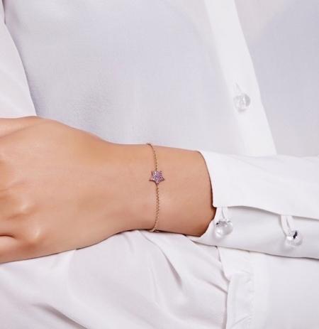 Philippa-Herbert-Chubby Star-Bracelet-Pink