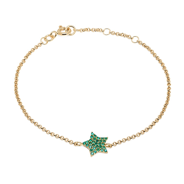 Philippa_Herbert_9kt_yellow_gold_chubby_star_bracelet_green