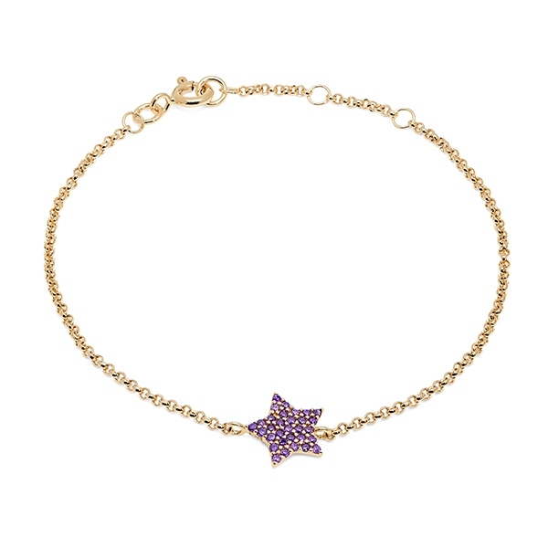 Philippa_Herbert_9kt_yellow_gold_chubby_star_bracelet_purple