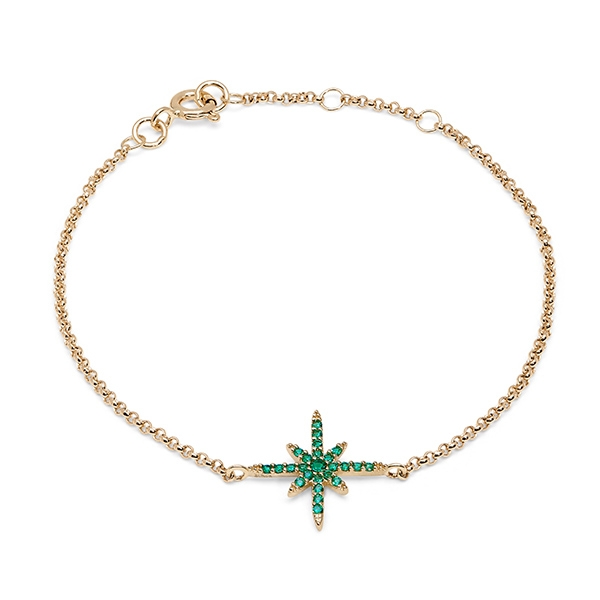 Philippa_Herbert_9kt_yellow_gold_north_star_bracelet_green