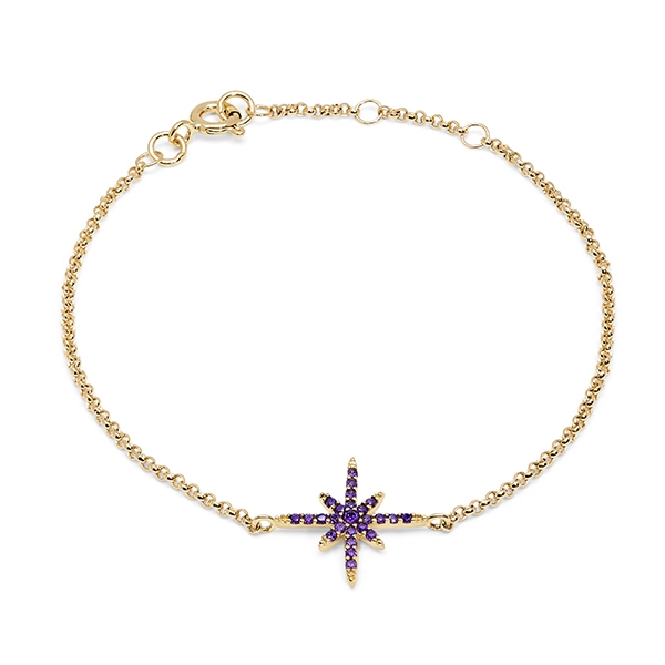 Philippa_Herbert_9kt_yellow_gold_north_star_bracelet_purple