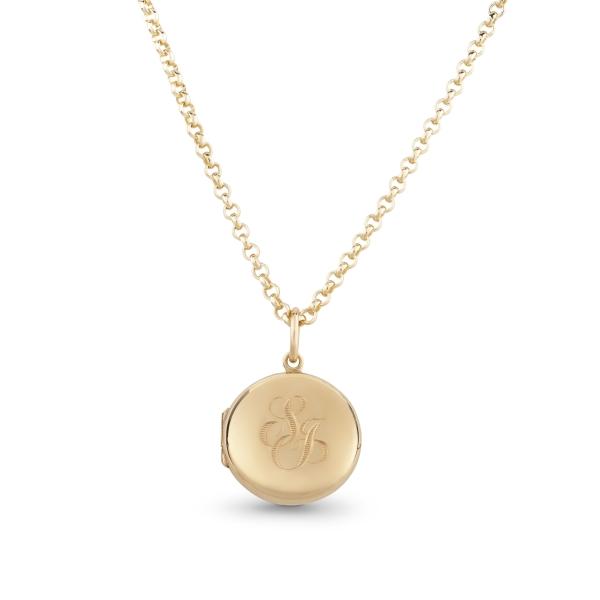 philippa-herbert-9ct-yellow-gold-round-locket-monogram-engraving-on-chain-2