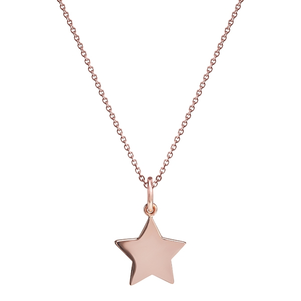 philippa-herbert-9kt-rose-gold-15mm-star-charm-pendant-no-engraving-plain-on-chain