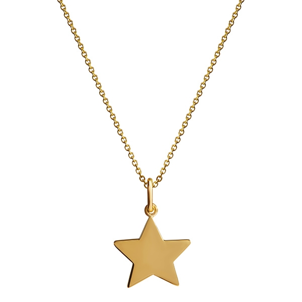philippa-herbert-9kt-yello-gold-18mm-star-charm-pendant-no-engraving-plain-on-chain