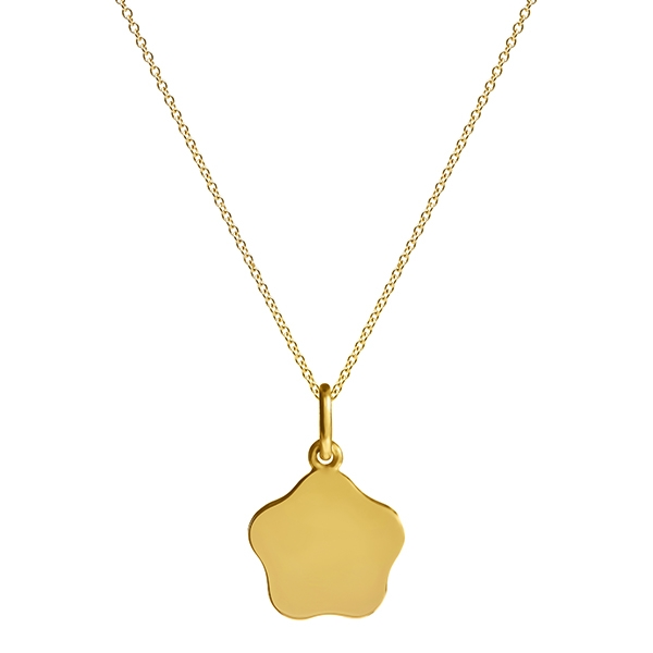 philippa-herbert-9kt-yellow-gold-15mm-flower-charm-pendant-on-chain-no-engraving-plain
