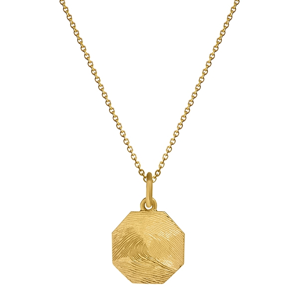 philippa-herbert-9kt-yellow-gold-18mm-octagon-charm-pendant-on-chain-fingerprint-engraving-print-to-edge-