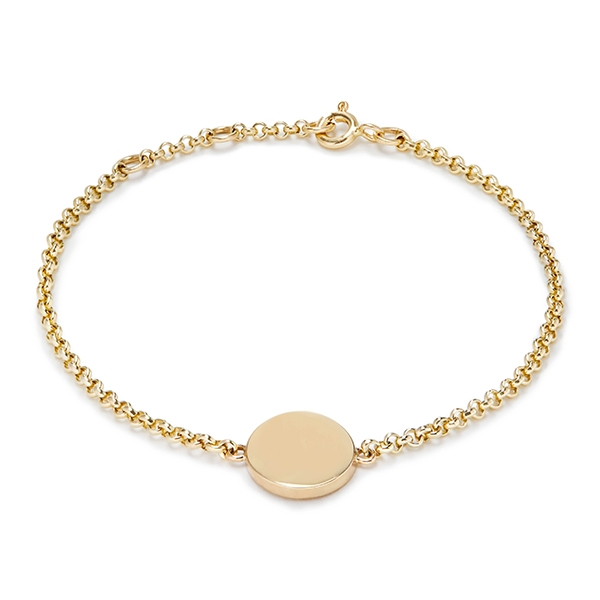 philippa_herbert_9kt_yellow_gold_small_disc_bracelet_unengraved