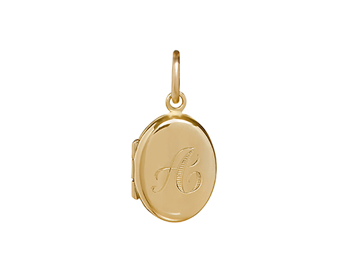 Philippa Herbert Alexandra Falstead CHARM Initial Locket Yellow Gold