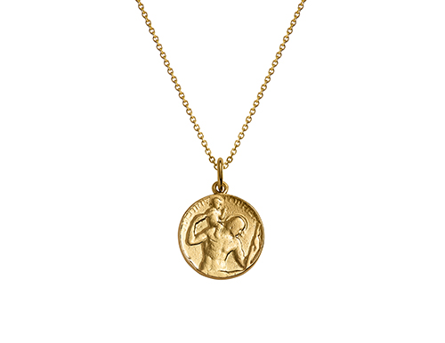 philippa herbert gold st christopher pendant necklace and chain