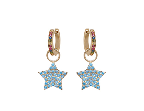 philippa-herbert-9kt-yellow-gold-light-blue-chubby-star-earring-drop-on-alexandra-felstead-light-blue-hoops