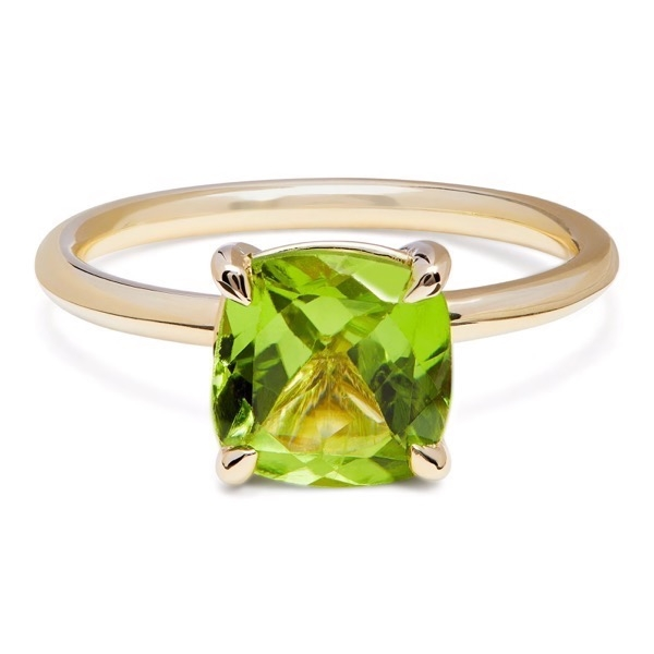 Philippa Herbert & Alexandra Felstead Cocktail Ring with a cushion cut peridot