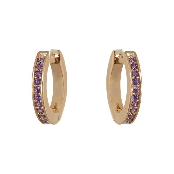 philippa-herbert-alexandra-felstead-hoop-earrings-9kt-yellow-gold-purple-amethyst