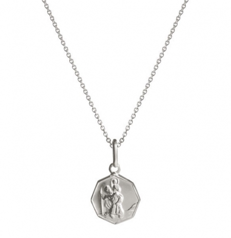 Octagonal St. Christopher Charm