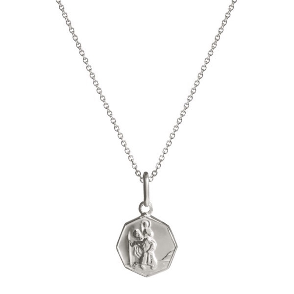 philippa-herbert-alexandra-felstead-octagonal-st-christopher-on-chain-silver