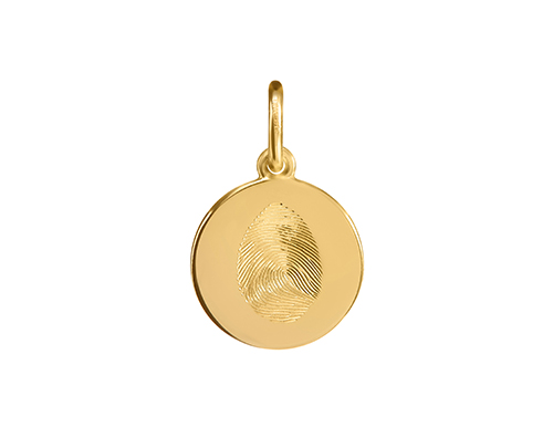 philippa-herbert-charm-Yellow-Gold-Disc-engraved-finger-print