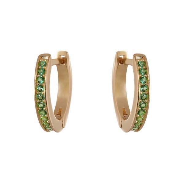 philippa-herbert-hoop-earrings-9kt-yellow-gold-green-tsavorite