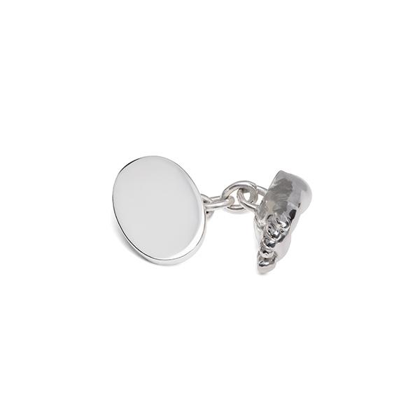 philippa-herbert-silver-chainlink-miniature-foot-cufflink-unengraved