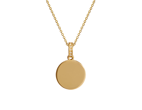 philippa_herbert_9kt_yellow_gold_disc_charm_on_chain_necklace_unengraved