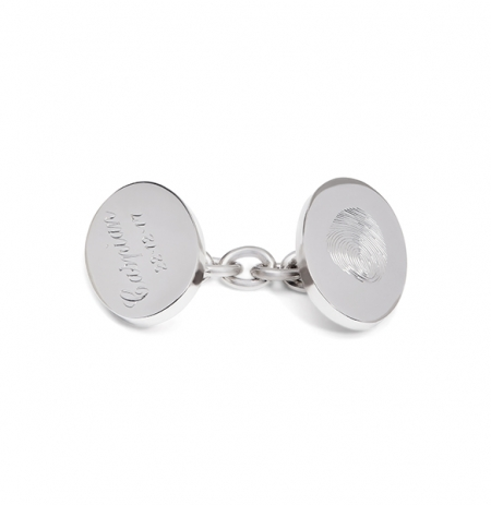 Fingerprint Engraved Chainlink Cufflinks