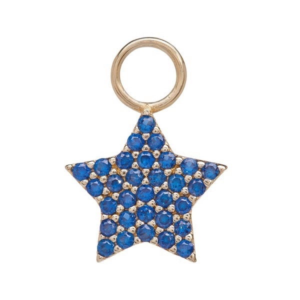 philippa-herbert-earring-drop-chubby-star-9kt-yellow-gold-blue-sapphire