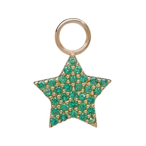 philippa-herbert-earring-drop-chubby-star-9kt-yellow-gold-green-tsavorite