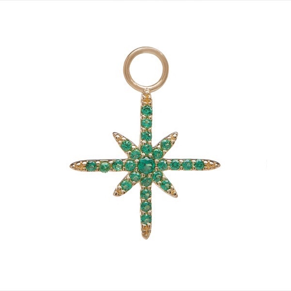 philippa-herbert-earring-drop-north-star-9kt-yellow-gold-green-tsavorite