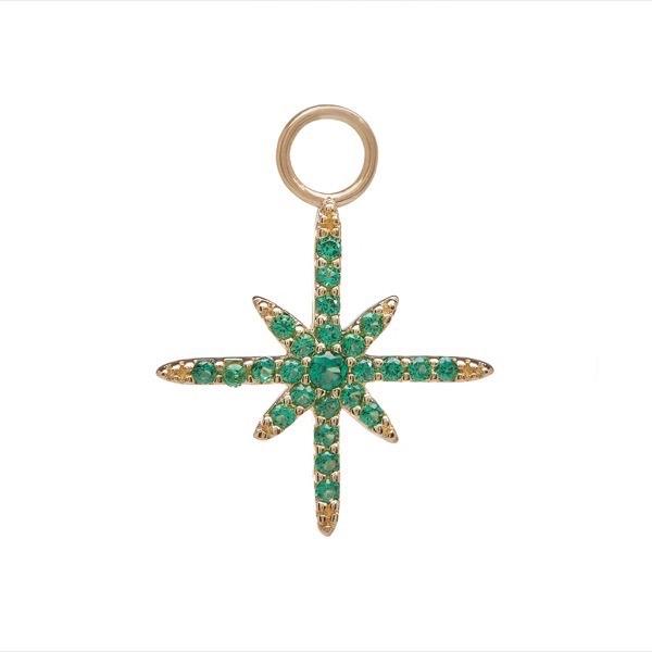 philippa-herbert-earring-drop-north-star-9kt-yellow-gold-green-tsavorite