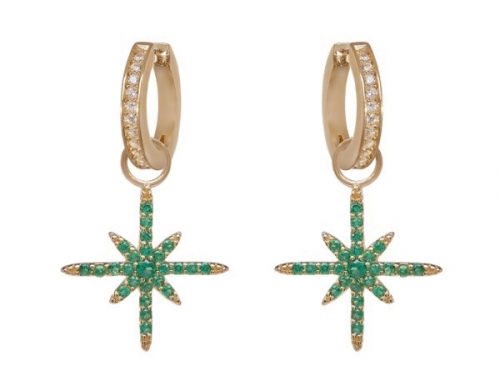 philippa-herbert-earrings-green-north-star-earring-drop-on-white-hoops