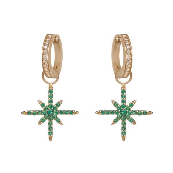 philippa-herbert-earrings-green-north-star-earring-drop-on-white-hoops