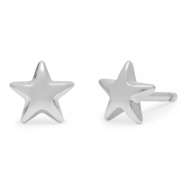 philippa-herbert-stud-earring-plain-star-9kt-white-gold