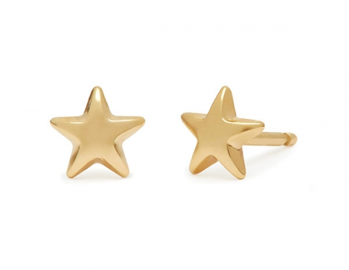 philippa-herbert-stud-earring-plain-star-9kt-yellow-gold