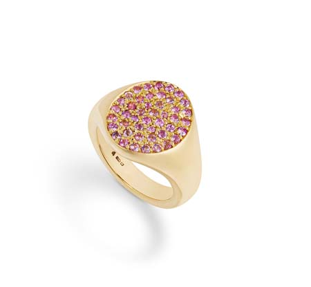 philippa-herbert-9ct-yellow-gold-and-pink-sapphire-segnet-ring-side-view
