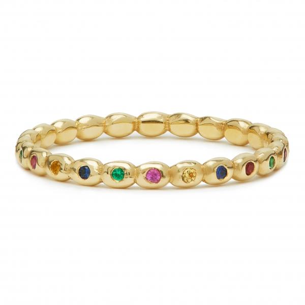 philippa-herbert-9ct-yellow-gold-rainbow sapphires-bobble-ring