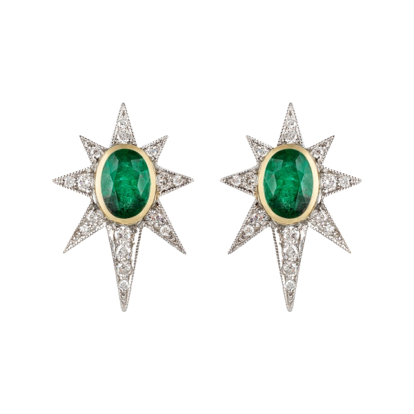 philippa-herbert-9ct-gold-emerald-diamond-starburst-earrings