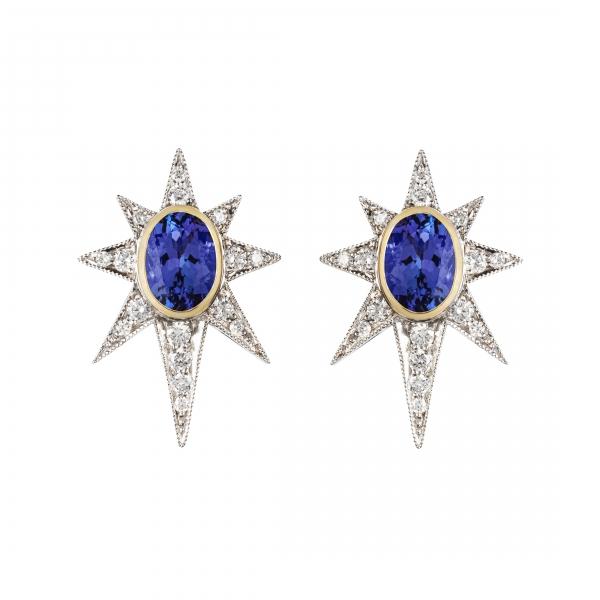 philippa-herbert-9ct-gold-tanzanite-diamond-starburst-earrings