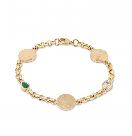 Bespoke birthstone and disc bracelets