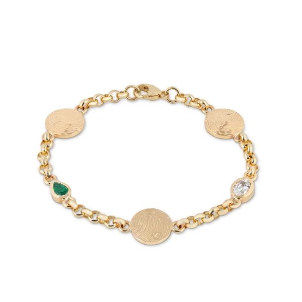 philippa-herbert-solid-9ct-gold-bespoke-birthstone-disc-bracelet